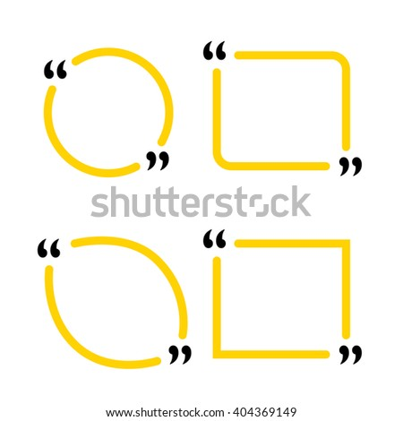blank template of quotes vector in eps 10 format - stock vector