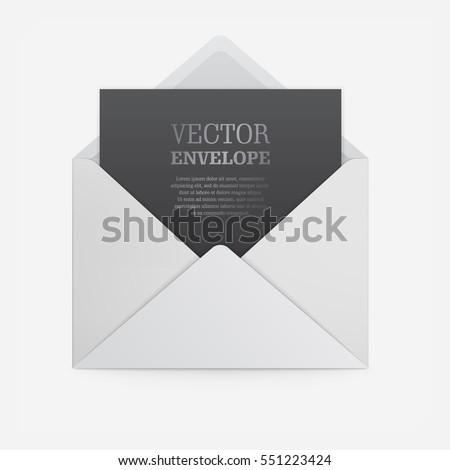blank template white paper envelope emptyのベクター画像素材