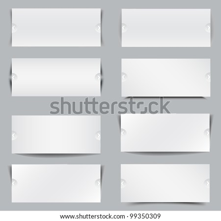 Blank templates for web banner, vector illustration - stock vector