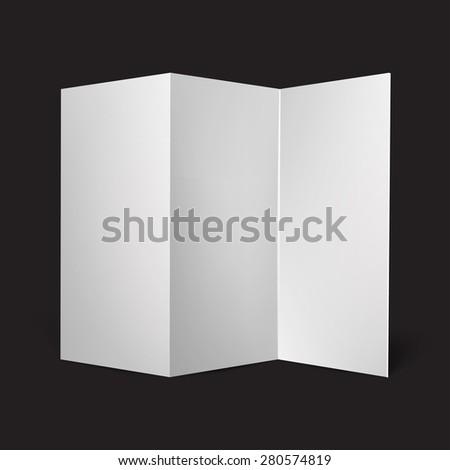 Blank three fold paper brochure vector illustration - stock vector