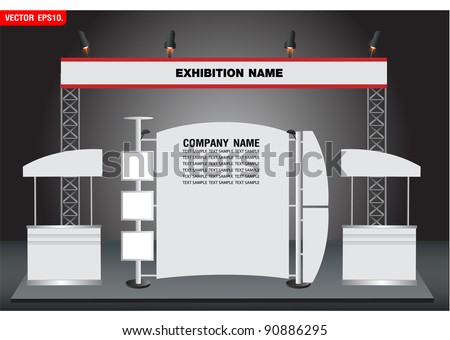 Blank trade exhibition and Promotion Stand. vector template for design work - stock vector