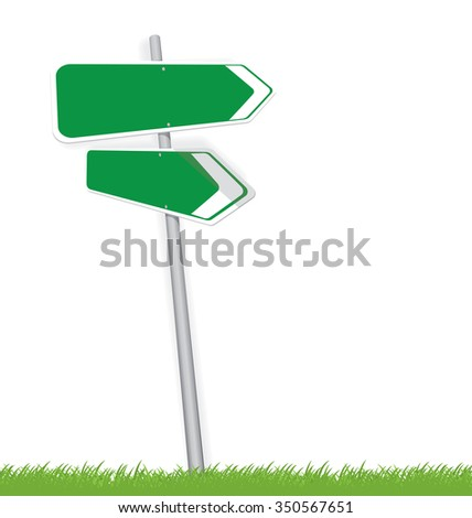 Blank traffic road sign on white, vector