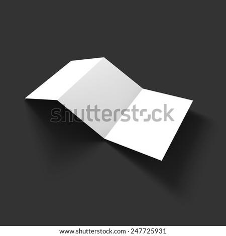 cardboard brochure holder template - stack pages business mockup template presentation stock