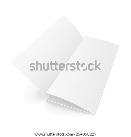 Blank twofold trifold folded sheet paper stock vector for Cardboard brochure holder template