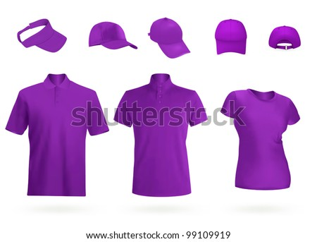 Unisex uniform template set polo shirt stock vector 99564143 blank unisex uniform template polo t shirt visor and baseball caps pronofoot35fo Image collections
