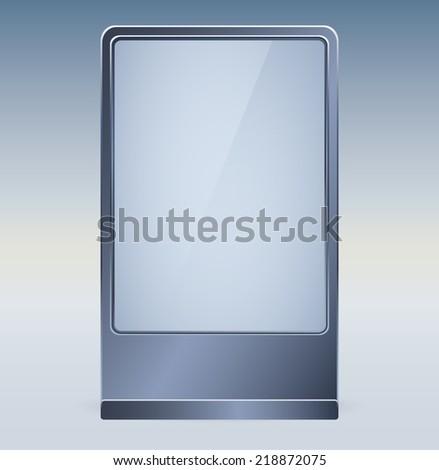 Blank vector billboard for advertisement, empty screen - stock vector