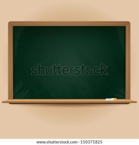 blank vector chalkboard - stock vector