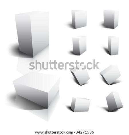 Blank vector 3D Boxes - stock vector