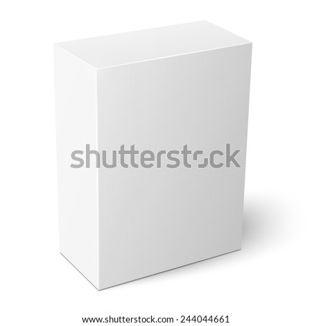 Blank vertical cardboard box template standing on white background Packaging collection. Vector illustration. - stock vector