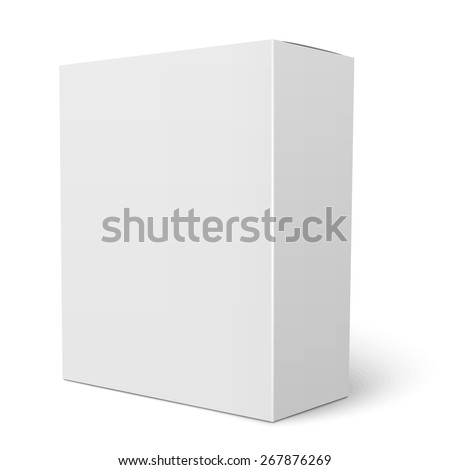 Blank vertical paper box template standing on white background Packaging collection. Vector illustration. - stock vector