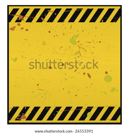 Blank warning sign - stock vector