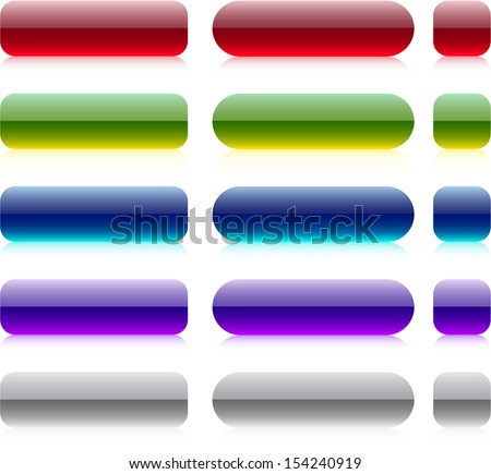 Blank web bar buttons. Vector. - stock vector