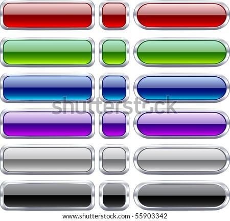 Blank web bar buttons. Vector. - stock vector