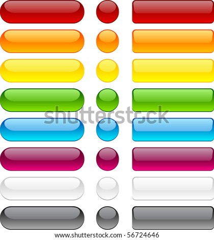Blank web bubble buttons. Vector. - stock vector