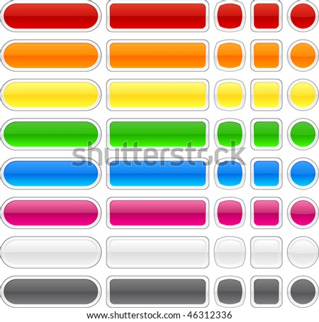 Blank web buttons. Vector illustration.