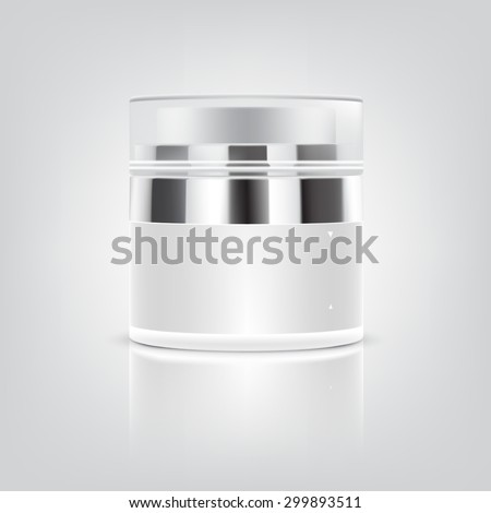 Blank white Cosmetic containers - stock vector