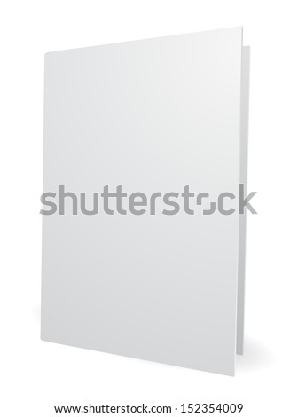 blank white folder 3d - stock vector