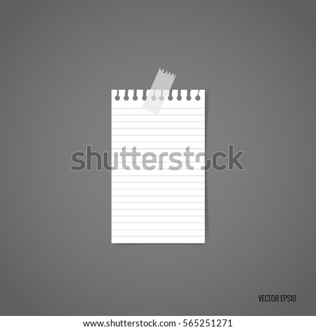 Blank white note papers, ready for your message. Vector illustration