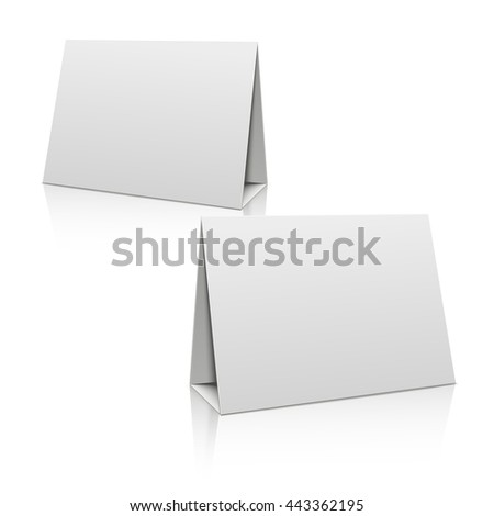 Museum pedestal white empty 3d podium stock vector for Cardboard brochure holder template