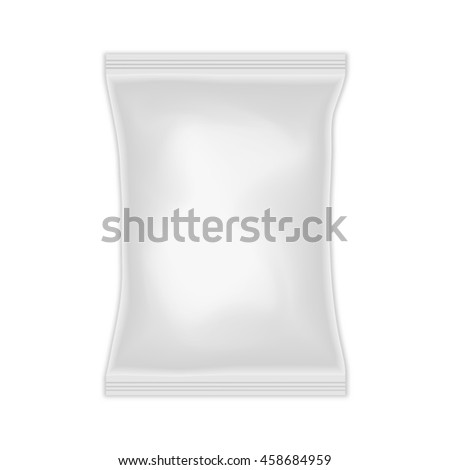 Blank white plastic packing isolated