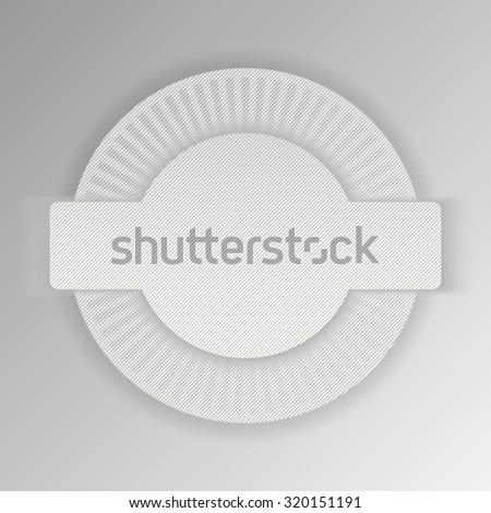 Blank, white round promotional sticker - stock vector