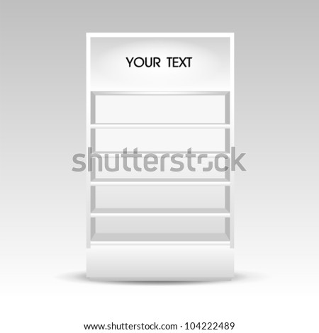 blank white Shelf cabinet - stock vector
