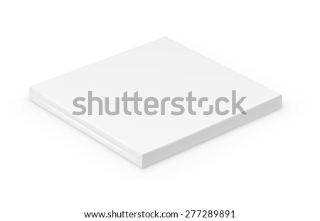 Blank white short wrapped box. Vector illustration on white background.