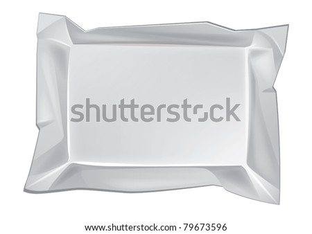 Blank white wrap box package for new design. Eps10 vector