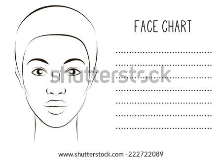 Blank with face for makeup artist - stock vector