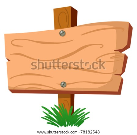 Blank wood sign - stock vector
