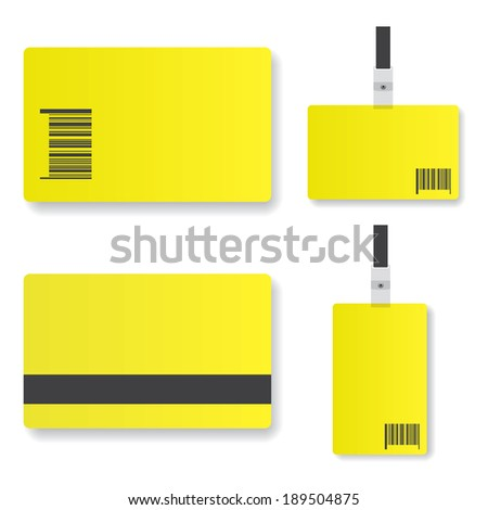Blank yellow  id card illustration - stock vector