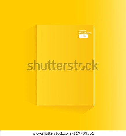Blank yellow page of magazine - stock vector