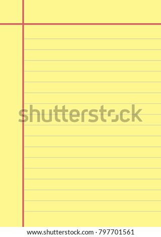 Blank Yellow Paper Note Page Memo Stock Photo Photo Vector