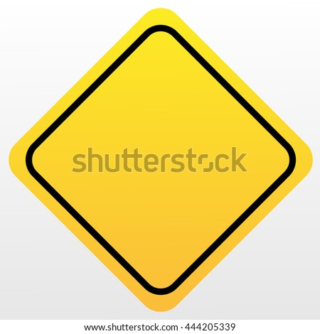 Blank Yellow Sign - stock vector