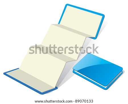 Blank Z-Card. Template for Branding. Vector Illustration - stock vector