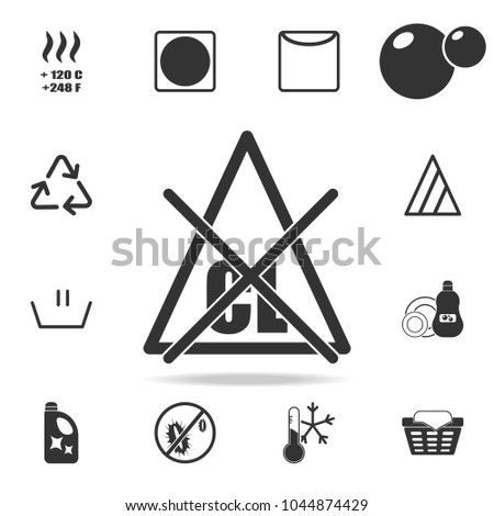 Chlorine stock images royalty free images vectors shutterstock bleach without chlorine icon detailed set of laundry icons premium quality graphic design urtaz Gallery