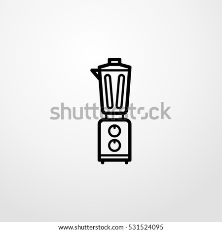 blender icon illustration isolated vector symbol