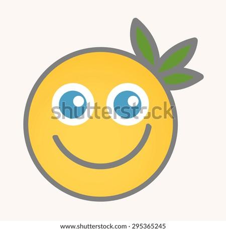 Blissful - Cartoon Smiley Vector Face - stock vector