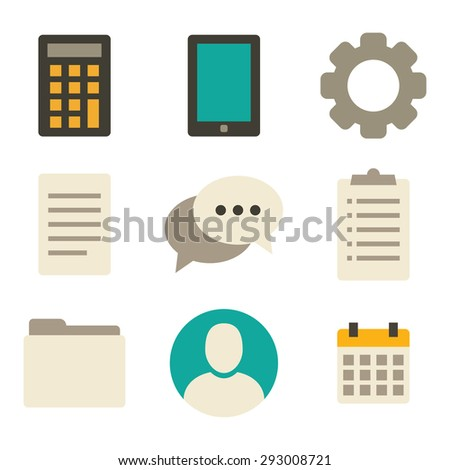 Blog and social media icons for your design or application. - stock vector