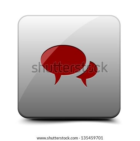 Blog button - stock vector