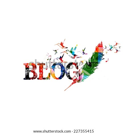Blog colorful inscription - stock vector