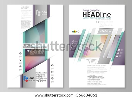 Blog Graphic Business Templates Page Website Stock Vector 566604061 ...