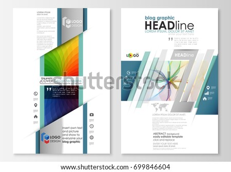 Blog Graphic Business Templates Page Website Stock Vector 699846604 ...