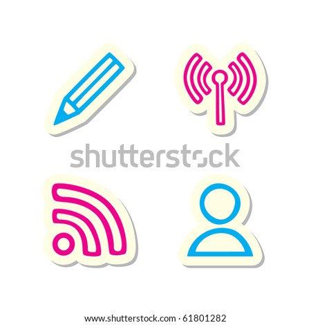 Blog Icons - stock vector