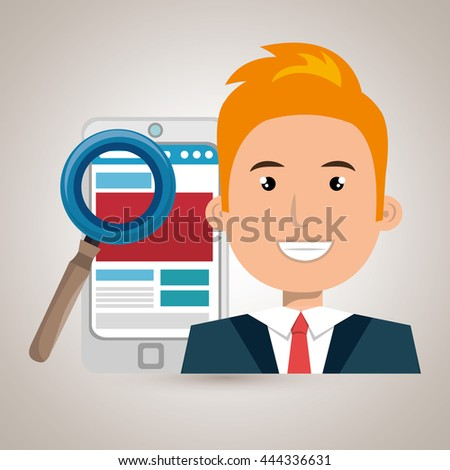 blog management design, vector illustration eps10 graphic