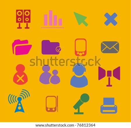 blog & media icons, signs, vector illustrations - stock vector