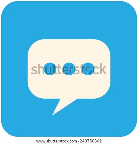 Blog, modern flat icon - stock vector
