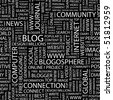 BLOG. Seamless vector background. Wordcloud illustration. - stock photo