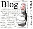 Blog. Tag-cloud - stock photo