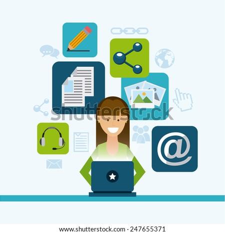 blog template design, vector illustration eps10 graphic - stock vector
